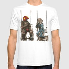 Turbo Kid Mens Fitted Tee White SMALL