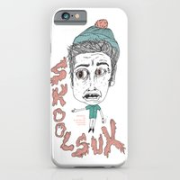 iPhone & iPod Case featuring SKOOL SUX / SUMMR 4EVER by Michael Todd Berland