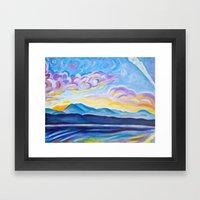 Jetstream And Comox Glac… Framed Art Print