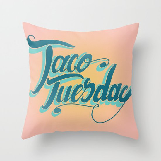 Taco Tuesday Throw Pillow