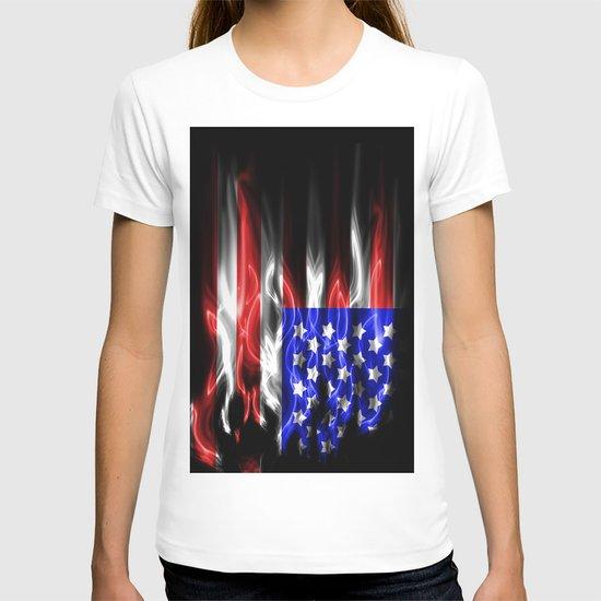 American flames T-shirt