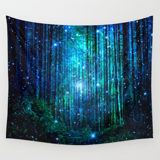 Magical Path Wall Tapestry By Haroulita