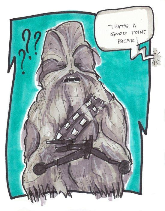 Good Point Bear Art Print