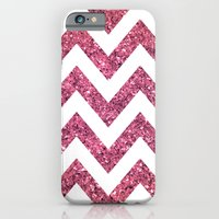 PINK GLITTER CHEVRON  iPhone 6 Slim Case
