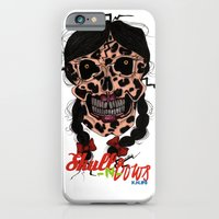 iPhone & iPod Case featuring Skull-N-Bows by KNIfe