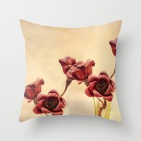 Ruby Red Throw Pillow