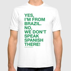 From Brazil I Mens Fitted Tee SMALL White
