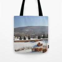 Winter Snow Scene Landscape Photo Tote Bag