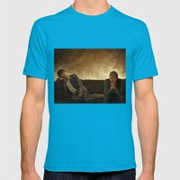 When you say nothing at all Mens Fitted Tee Teal SMALL