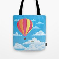 Picnic In A Balloon On A… Tote Bag