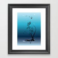 Fluid Inspiration Framed Art Print