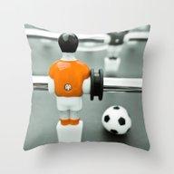 Table Football 02B - Def… Throw Pillow