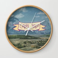CARPE YOLO Wall Clock