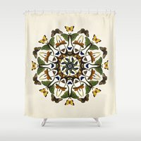 Kaleidoscope With Wings Shower Curtain