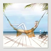 Chill, Relax, it's Summertime!! Canvas Print