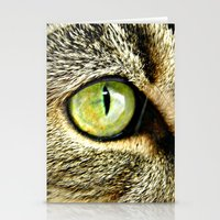 Emerald Cat Eyes Stationery Cards
