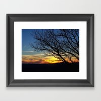 Shenandoah Sunset Framed Art Print