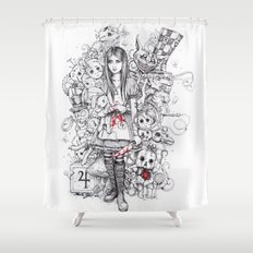 wonderland shattered Shower Curtain
