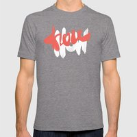 Here Now Mens Fitted Tee Tri-Grey SMALL
