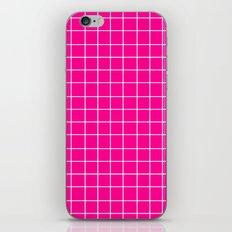Grid (White/Magenta) iPhone & iPod Skin
