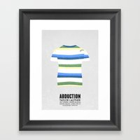 Abduction - minimal poster Framed Art Print
