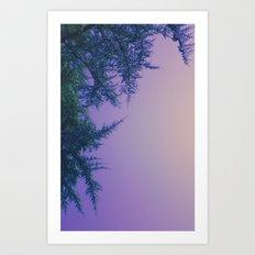Lavender Skies, Green Trees Art Print