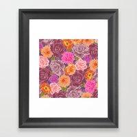 WILDFLOWER: Roses, Chrys… Framed Art Print