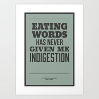 'Eating words has never given me indigestion'  Art Print