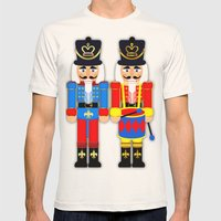 Nutcracker Soldiers Mens Fitted Tee Natural SMALL