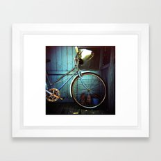 Bluebell the blue bicycle Framed Art Print