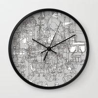 Interlocking Lives, Line… Wall Clock