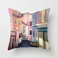Villas Throw Pillow