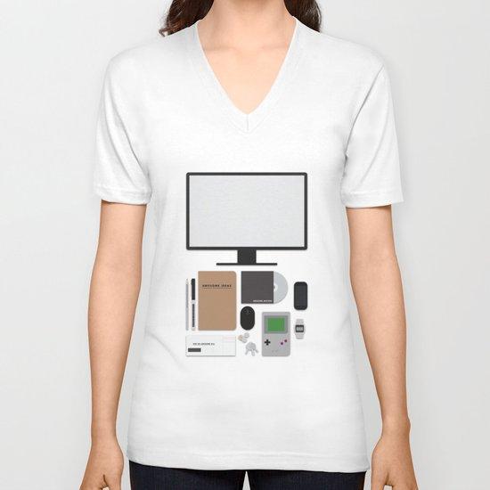 Awesome stuff. V-neck T-shirt