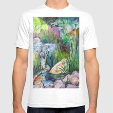 Moses in the Bull Rushes Mens Fitted Tee SMALL White