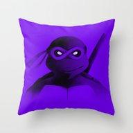 Donatello Forever Throw Pillow