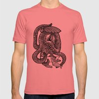 Octopus Mens Fitted Tee Pomegranate SMALL
