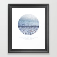 Standing and Staring Framed Art Print