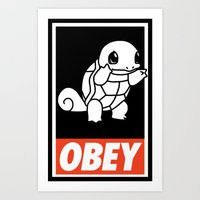 OBEY Squirtle Art Print