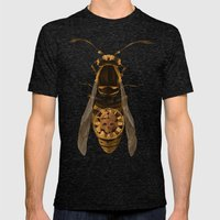 Wasp Mens Fitted Tee Tri-Black SMALL