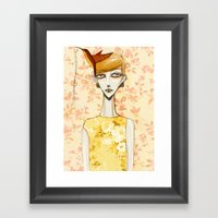 flowerella 4 Framed Art Print