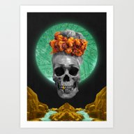 Spiritual Skull Of The G… Art Print