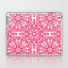 Hot Pink & Soft Cream Folk Art Pattern Laptop & iPad Skin