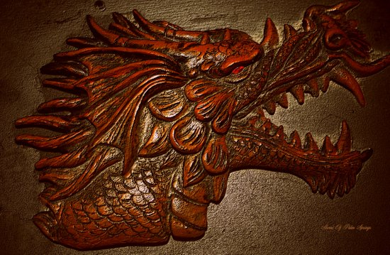 YEAR OF THE DRAGON.. Art Print