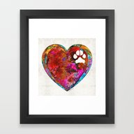Dog Art - Puppy Love 2 -… Framed Art Print