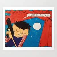 Johnny the Homicidal Maniac in Color Art Print