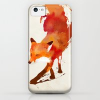 iPhone 5c Cases featuring Vulpes vulpes by Robert Farkas