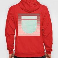Striped Watercolor - Aqua Hoody