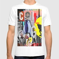 Collage is more than just cutting and sticking. Mens Fitted Tee White SMALL