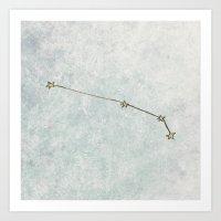 Aries X Astrology X Zodi… Art Print