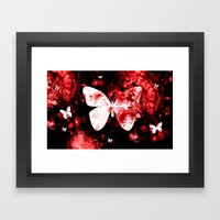 Butterfly Splatter Framed Art Print